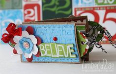Toilet Paper Roll Christmas Brag Mini by our Design Team Member KimberlyRae using Bo Bunny Mistletoe Bundle found at fotobella.com
