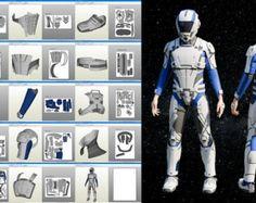 Titan Rise of the Iron armor Pepakura pattern DIY by MaxCrft