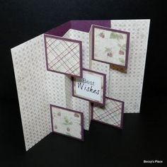 Beccy's Place: Tutorial: Flag Fold Cards