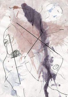 Non objective drawing, mila blau