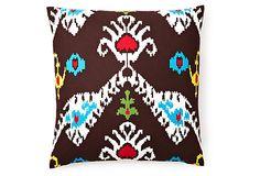 Tribal Ikat 20x20 Cotton Pillow, Java on OneKingsLane.com