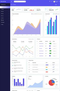 Crystal - Bootstrap 4 Admin Template. Crystal is a bootstrap admin dashboard template built with Twitter Bootstrap 4 Framework and it has a huge collection of reusable UI components and integrated with jQuery plugins also. It is also easy to use and modify that is suitable to your needs and can be implemented to your desire projects such Project Management System, CRM, HRMS, Real Estate, Ecommerce, Loan Management System, Billing Management System and more. Features Bootstrap 4 css framework Dashboard Template, Dashboard Design, Bootstrap Template, Ui Design, Dashboard Interface, User Interface Design, Hotel Website Templates, Table Calendar, Management Information Systems
