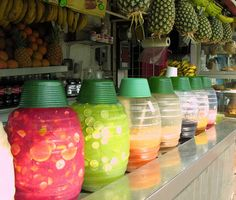 Agua Fresca Stand - Mercado Central, Mazatlan Mexico by jasonperlow, via Flickr