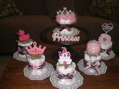 PRINCESS Diaper Cake Baby Shower Centerpieces other colors,designs and toppers too prince cakes too on Etsy, $9.99