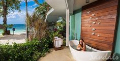 Let the whisper of the ocean's waves take you into a state of pure relaxation as you soak in your tranquility tub from the privacy of your balcony. Karen@TTBAgency.com