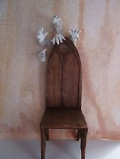 5 ghostly hands  1:12 scale  Haunted Dollhouse Miniatures OOAK Pat Benedict