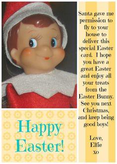 East Coast Mommy: Elf on the Shelf {Easter Card}