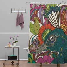 Valentina Ramos Alexis And The Flowers Shower Curtain   DENY Designs Home Accessories