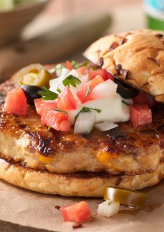 Nachos or a burger? Get both on one plate. Pick up some Bacon & Cheddar Chicken Patties tonight and grill up a fiesta!
