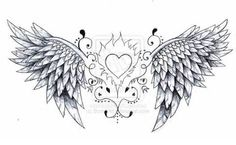 angel wings tattoo design by ~Born2Art on deviantART