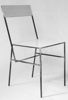 Full metal chair by Laura Greindl  www.atelier365.be #atelier365 #lauragreindl #metal #chair #metalchair #modern #minimal