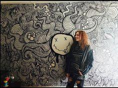 nirvana wall drawing (timelapse) - YouTube