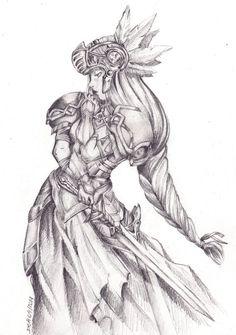 Valkyrie Profile, Lenneth by DebsTradArt
