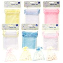 I love these! Great for small items! Organza Drawstring Bags DollarTree.com