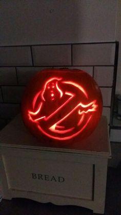 Ghostbuster pumpkin