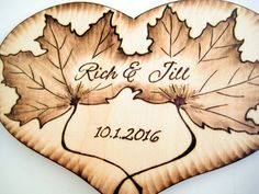 Rustic Wedding Cake Topper with Leaves and Deer or by RivdomArt