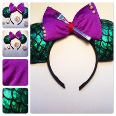 Minnie and Mickey Mouse ears. I do all types. You have an idea i can make it. You can email me your idea and i will be more than happy to make it.