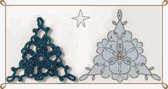 Crochet-Knitting free pattern : Triangle Crochet Motif
