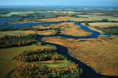 Aerial view of the Chesapeake Bay watershed