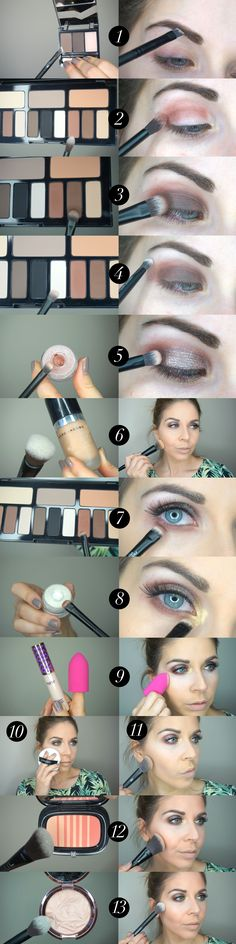 Brown smokey eye makeup tutorial featuring Sephora Collection double-ended brushes and Kat Von D Shade & Light Eye Contour palette