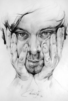 Drawings by Maria V. Bator, 2012 (Variations on the same portrait, pencil on paper) Face Pencil Drawing, Human Face Drawing, Guy Drawing, Life Drawing, Figure Drawing, Pencil Drawings, Art Drawings, Drawing Portraits, Ap Studio Art