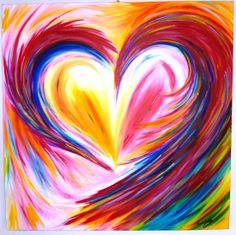Beautiful new colourful heart painting I have on my online store! One off so log on to www.trudysemporium.com.au and have a look!
