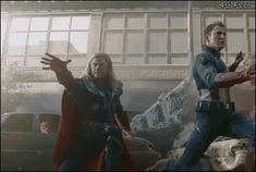 Thor catching his hammer / you've got to appreciate how often he tried with just one hand