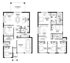 Aria 38 - Double Level - Floorplan by Kurmond Homes - New Home Builders Sydney NSW