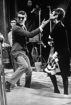 Peter O'Toole & Audrey Hepburn by Terry O'Neill on the set of How To Steal A Million 1966