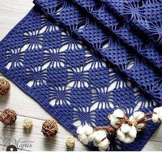 Crochet Knitting Handicraft: Blue stole by spider stitch Crochet Motif, Irish Crochet, Crochet Shawl, Crochet Designs, Crochet Flowers, Crochet Patterns, Knitting Stiches, Crochet Stitches, Crochet Tablecloth