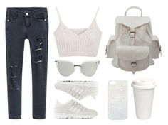 """""""Milky"""" by baludna ❤ liked on Polyvore featuring adidas and Miss Selfridge"""