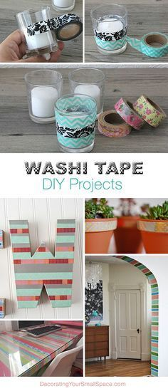 Washi Tape DIY Projects • Lots of Ideas & Tutorials!