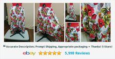 Hi-Lo Full Skirt Bold Red and Yellow Floral Print Ruffle Hem Olsenboye Size XL #highlo #olsenboye