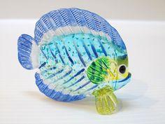Underwater Handicraft MINIATURE HAND BLOWN GLASS Fish FIGURINE Collection # 92
