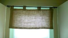 Burlap valence I made for my kitchen.