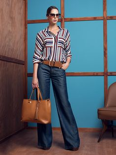 Look book Work Studio F 2016 Work Casual, Casual Chic, Casual Looks, Jean Outfits, Casual Outfits, Cute Outfits, Look Fashion, Fashion Outfits, Womens Fashion