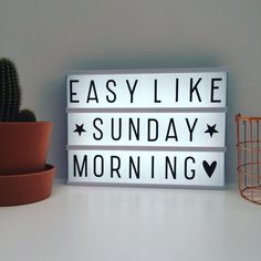 Cinema Light box - Easy like Sunday Morning Cinema Light Box Quotes, Cinema Box, Light Quotes, Light Words, Light Letters, Light Up Message Board, Mini Lightbox, Hump Day Quotes, Lead Boxes