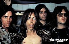 An awesome poster of Iggy Pop and The Stooges - Ron Asheton, Scott Asheton, and Dave Alexander! These Detroit dudes paved the way for Punk and Metal. Ships fast. 11x17 inches. Don't be a Stooge - Chec