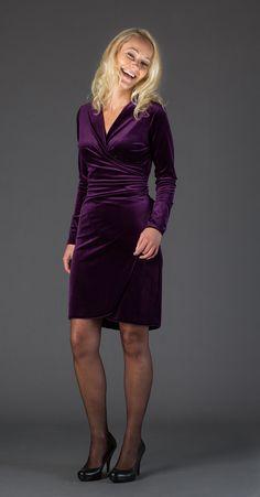 Wikkeljurkje purple in soepel stretch fluweel