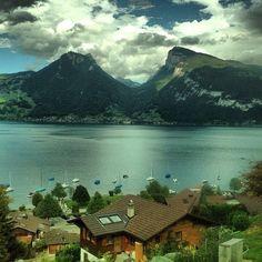 Lake Thun, Interlaken, Switzerland !!