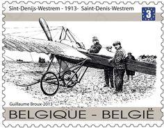 Briefmarke: First Airmail Flight: departure of pilot Henri Crombez at Si (Belgien) (Centenary First Airmail Flight)