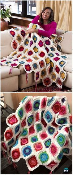 Crochet Couverture Blanket Ins