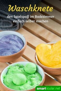 Knetseife selber machen – damit baden alle Kinder gern It's not a dough and it's not a bar of soap either: it's both! With homemade dough soap, washing makes even children fun – but also the big ones. Diy 2019, Plasticine, Presents For Her, Mom Day, You Are The Father, Bar Soap, Thoughtful Gifts, Diy And Crafts, Barn