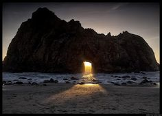 Keyhole Arch in Big Sur, California