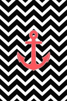 Black. Chevron. Anchor.