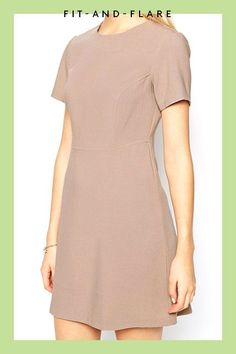 The Best Summer Dresses For Busty Girls #refinery29  http://www.refinery29.com/flattering-summer-dresses#slide-3  The subtle paneling on this taupe dress gives it an almost shift-y feel, while still maintaining that definition along the waist.