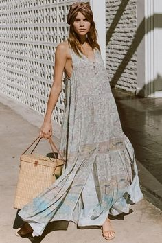 c3a5e789738d Olivia Aarnio wears Spell Oasis Boho Maxi Dress Bohemia, Oasis, Bohemian