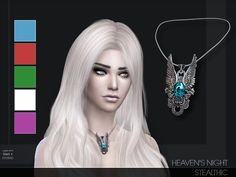 Accessories: Heaven's Night Necklace by Stealthic from The Sims Resource • Sims 4 Downloads