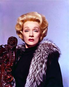 """Marlene Dietrich promotional sitting for Stanley Kramer's """"Judgement at Nuremberg""""."""