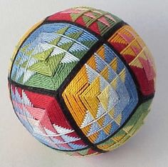 Con hilos y telas — pardalote: Got to thinking about making temari...